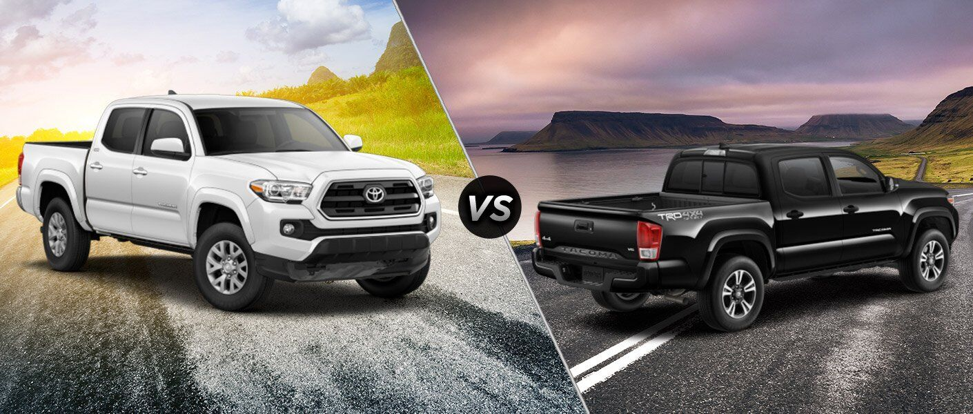 2017 toyota tacoma sr5 vs 2017 toyota tacoma trd sport. Black Bedroom Furniture Sets. Home Design Ideas