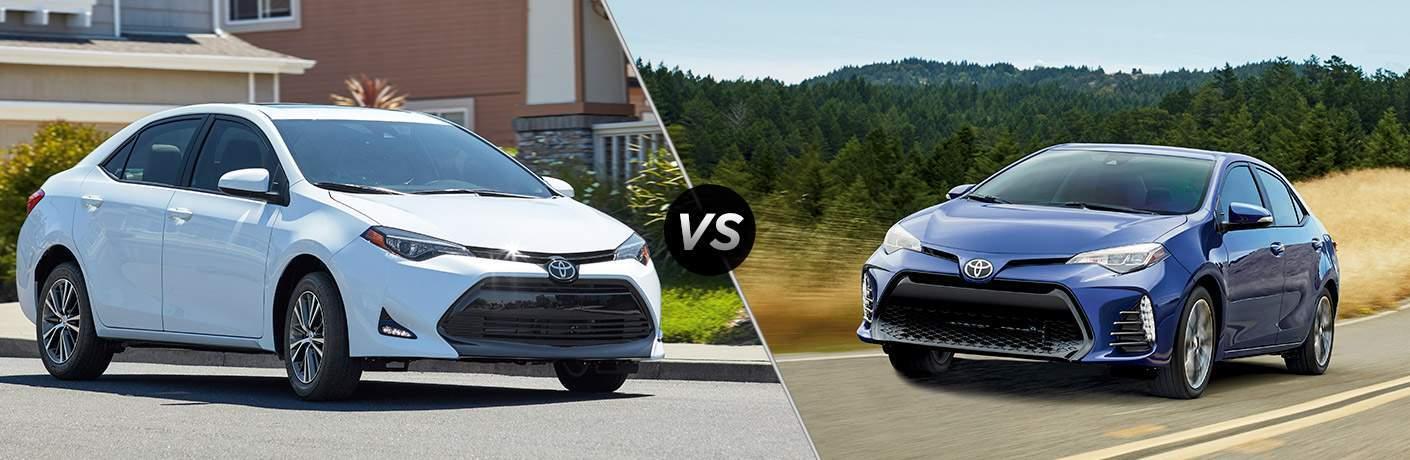 2017 Toyota Corolla LE vs 2017 Toyota Corolla SE