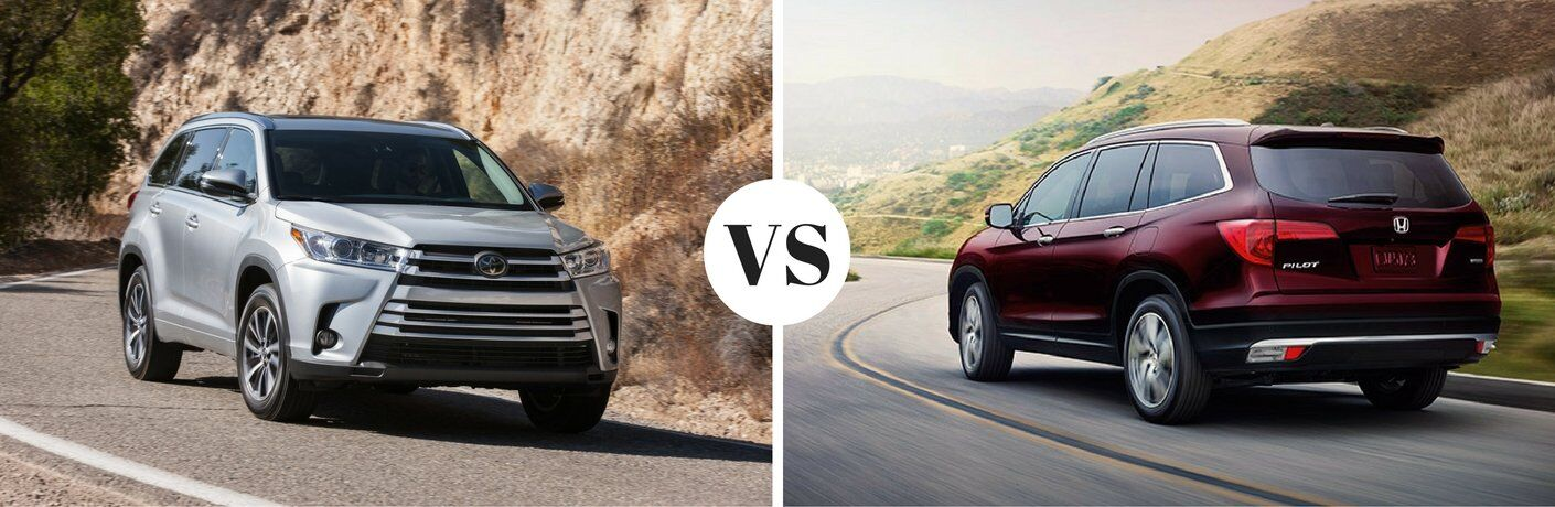 2017 toyota highlander vs 2017 honda pilot for Honda crv vs toyota highlander
