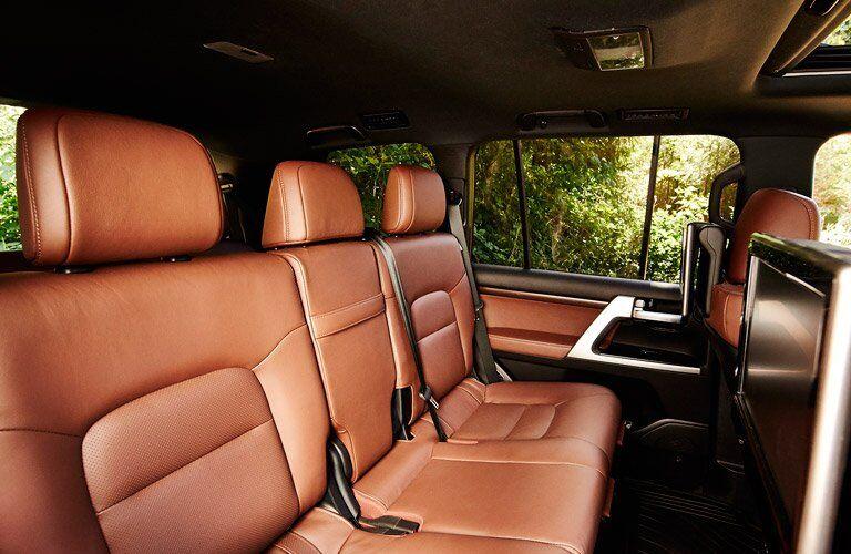 Terra Premium Leather Interior in Rear of 2017 Toyota Land Cruiser