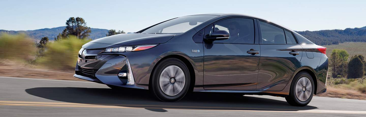 Gray 2017 Toyota Prius Prime on Country Highway