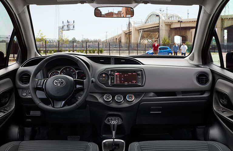 2018 Toyota Yaris Front Dashboard with Toyota Entune