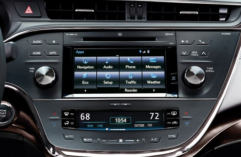2017 Toyota Avalon Toyota Entune Touchscreen Display
