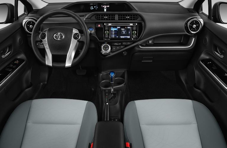 2017 Toyota Prius c Interior with Toyota Entune Touchscreen