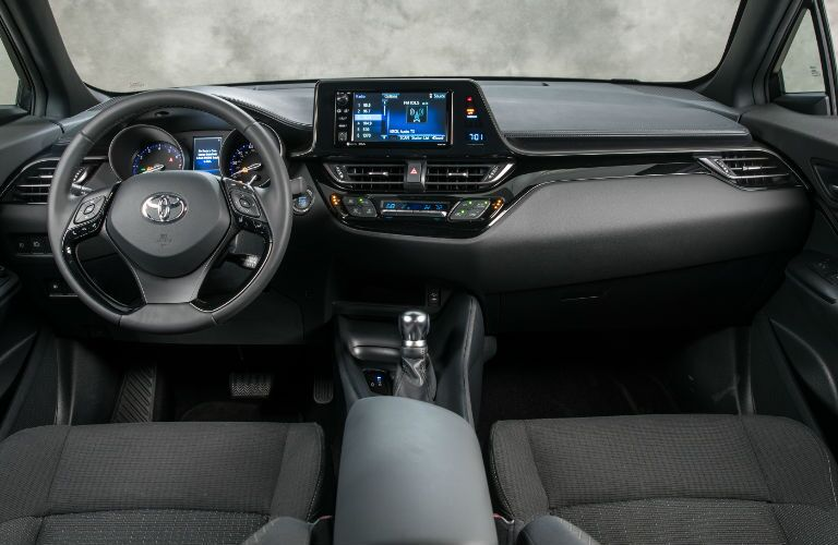 2018 Toyota C-HR Steering Wheel, Dashboard and Toyota Entune Touchscreen