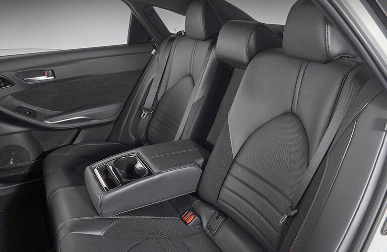 Black 2019 Toyota Avalon Rear Seat Interior
