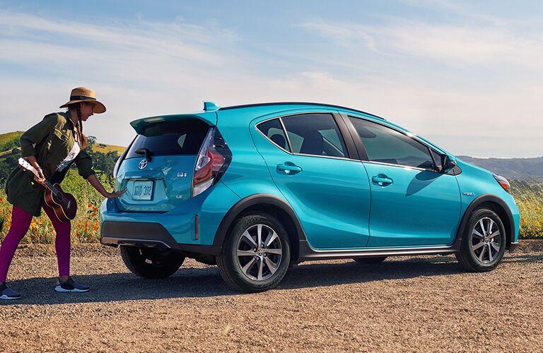 Blue 2019 Toyota Prius c Rear Exterior