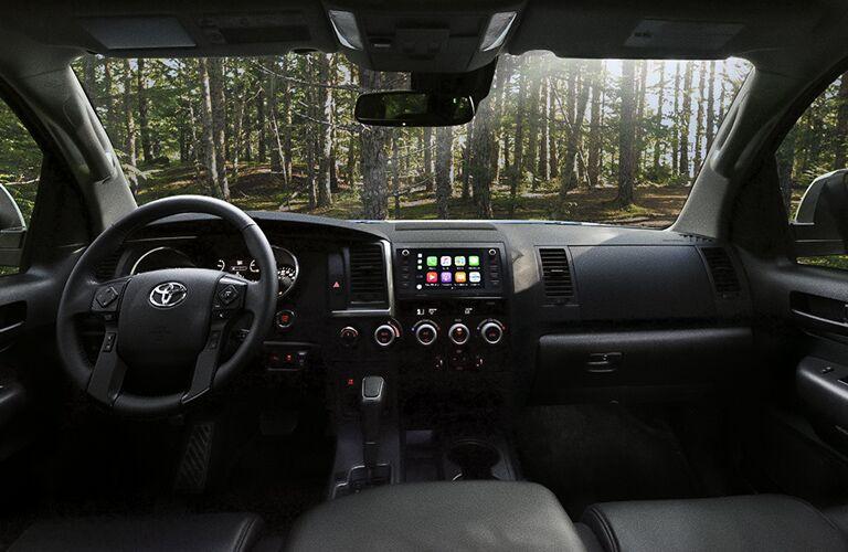 2020 Toyota Sequoia Steering Wheel, Dashboard and Toyota Entune 3.0 Touchscreen Display