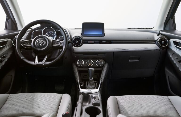 2020 Toyota Yaris Hatchback Steering Wheel, Dashboard and Touchscreen Display