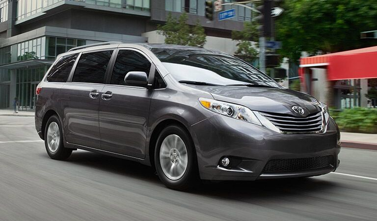 Gray 2016 Toyota Sienna on the Road
