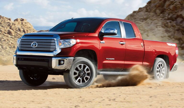 Red 2016 Toyota Tundra in Sand