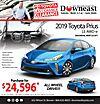 2019 Toyota Prius LE AWD-e Savings