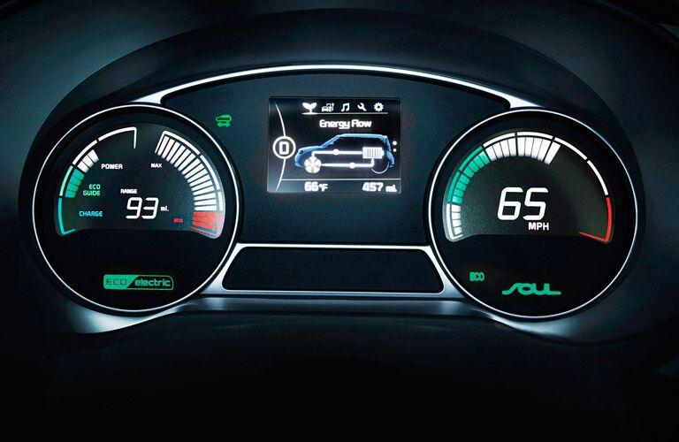 2016 Kia Soul EV dash meter cluster