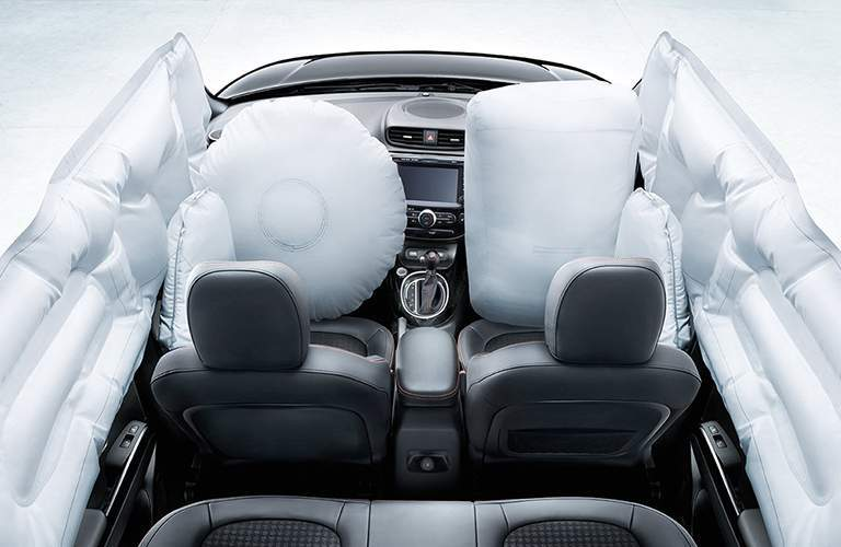 Inflated Airbags Inside the Cabin of a 2018 Kia Soul