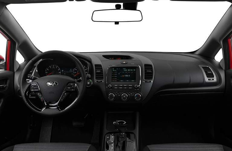 2018 Kia Forte Dashboard and Black and Grey Front Seats