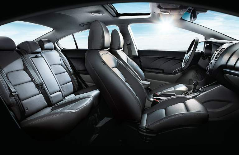 Dashboard and Black Seats of 2018 Kia Forte