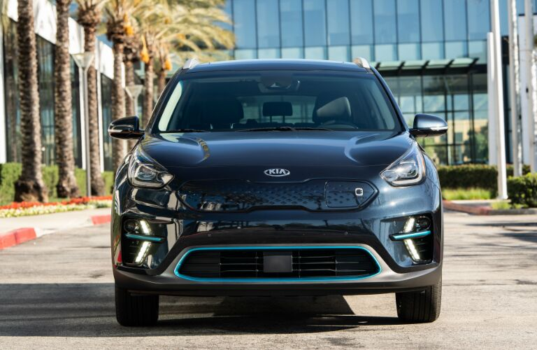 Front view of dark blue 2019 Kia Niro EV