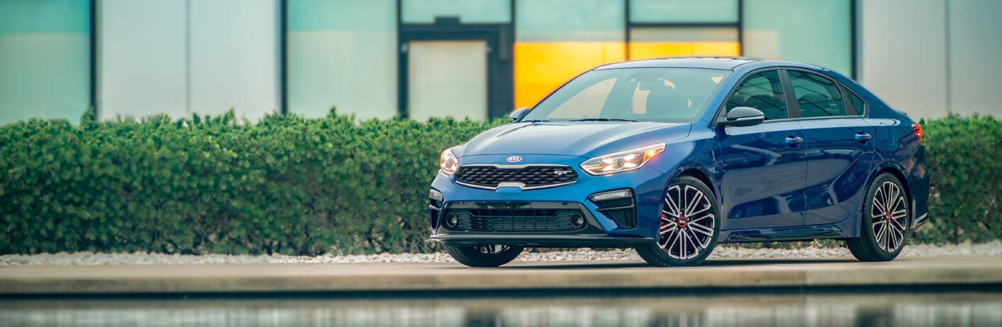 2020 Kia Forte next to water