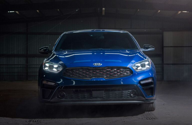Front view of blue 2020 Kia Forte
