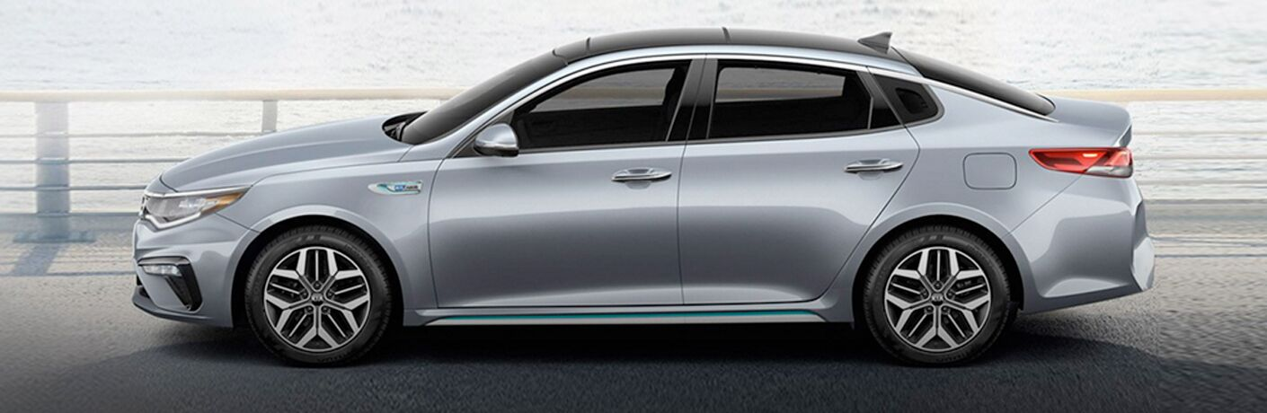 Side view of silver 2020 Kia Optima