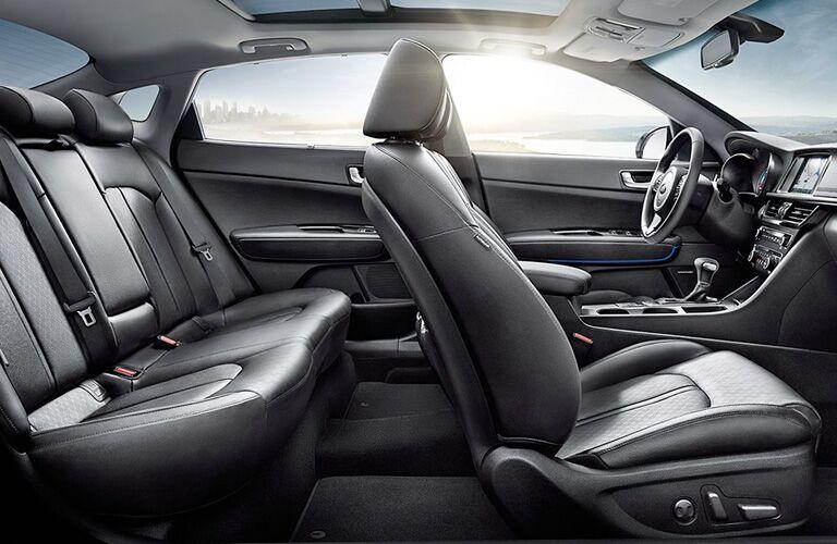 Dark grey seats in 2020 Kia Optima Plug-In Hybrid