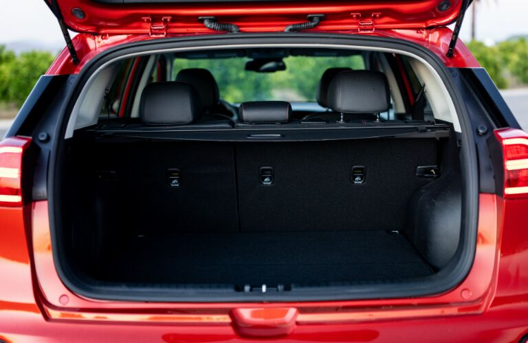 Cargo area in 2020 Kia Niro