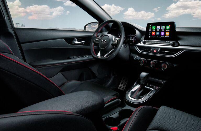 2021 Kia Forte interior with steering wheel