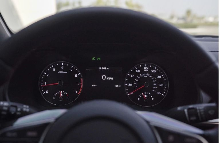 instrument cluster of the 2021 Kia Forte