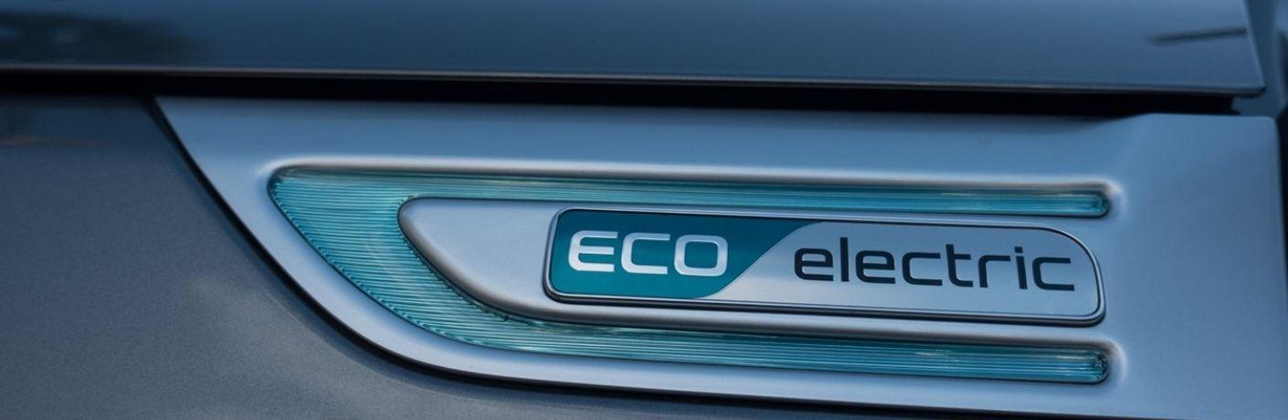 Eco Fuel decal on Kia model close up