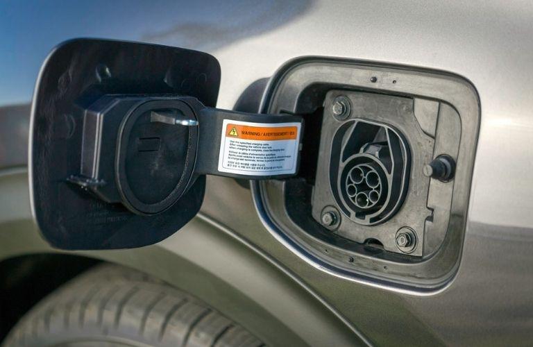 Kia charging port close up