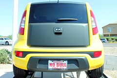 Flat Black Wrap Rear Door on Kia Soul