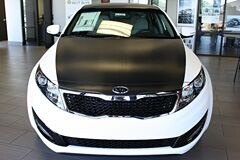 Carbon Fiber wrapped Kia Optima hood