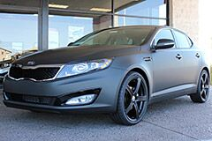 Custom Matte Black Wrap on new 2013 Kia Optima LX
