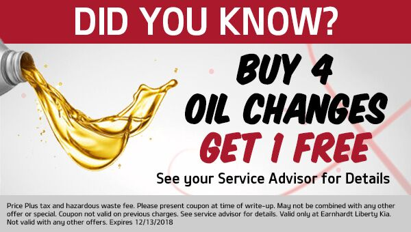 Did You Know? Buy 4 Oil Changes, Get 5th Oil Change for FREE