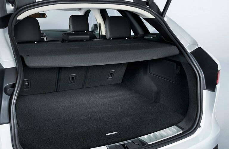 rear cargo area of the 2017 Jaguar F-PACE