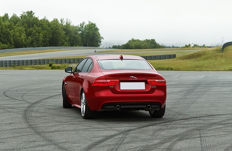 rear view of a 2017 Jaguar XE