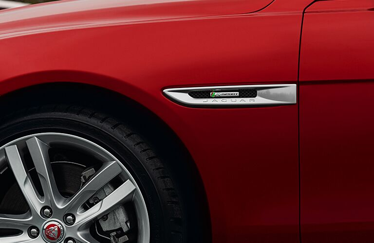side and partial wheel view of the 2017 Jaguar XE 20d