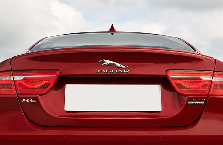 rear trunk view of the 2017 Jaguar XE