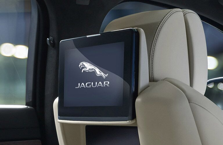 2017 Jaguar XJL Portfolio rear seat entertainment system
