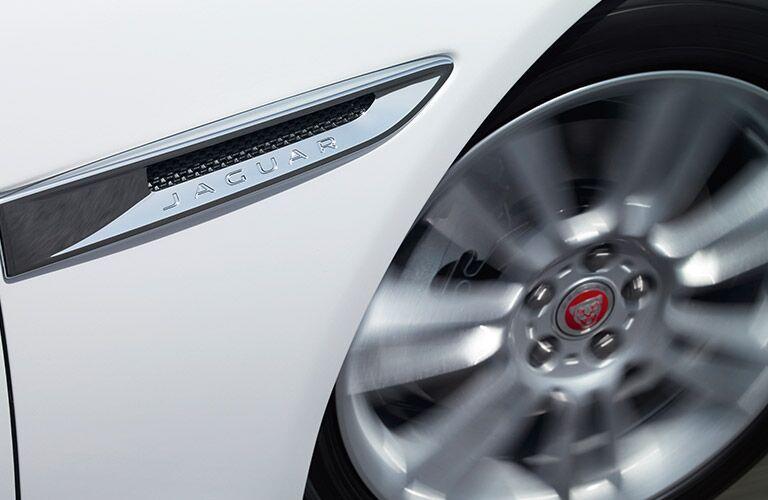 wheel and Jaguar branding on the 2017 Jaguar XE