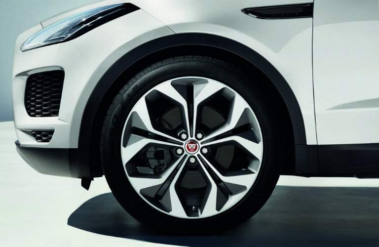 wheel close-up on the 2018 Jaguar E-PACE