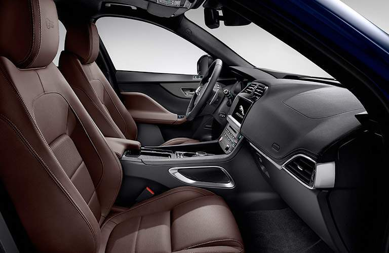 front seats of the 2018 Jaguar F-PACE