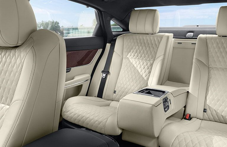 luxurious rear seats of the 2018 Jaguar XJ