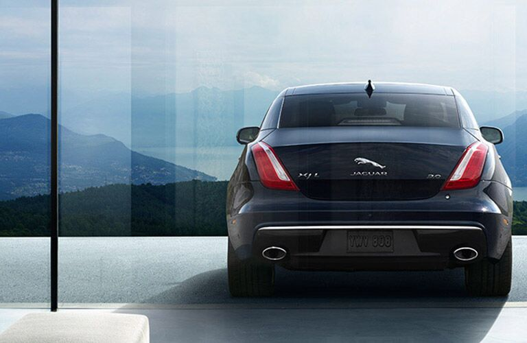 rear view of the 2018 Jaguar XJ
