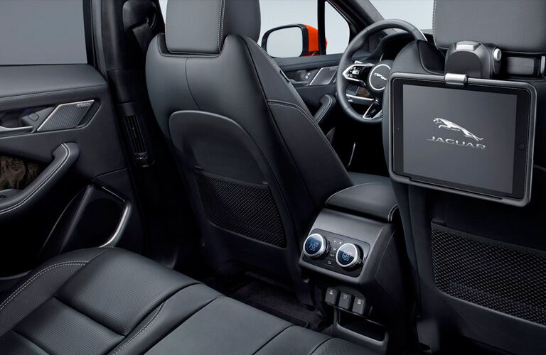 rear entertainment system in the 2019 Jaguar I-PACE