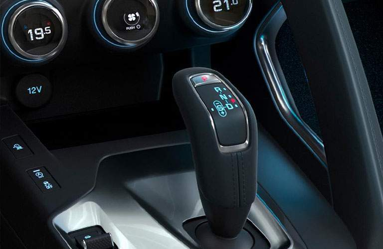 gear shifter in the 2018 Jaguar E-PACE