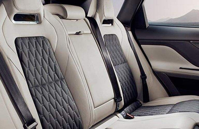 quilted leather seating in 2019 jaguar f-pace rear seats