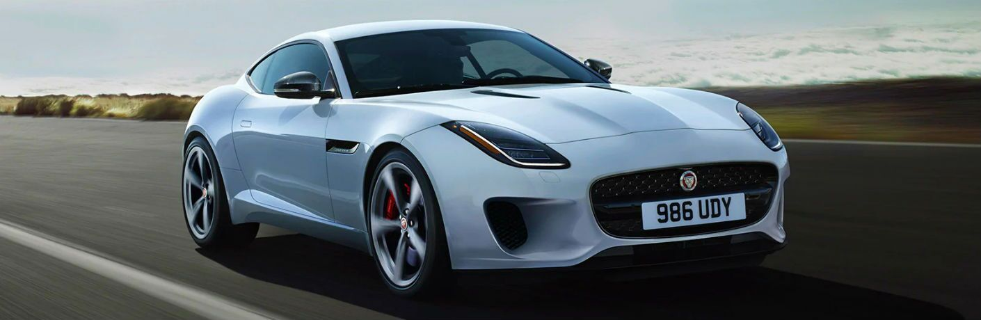 white 2020 jaguar f-type