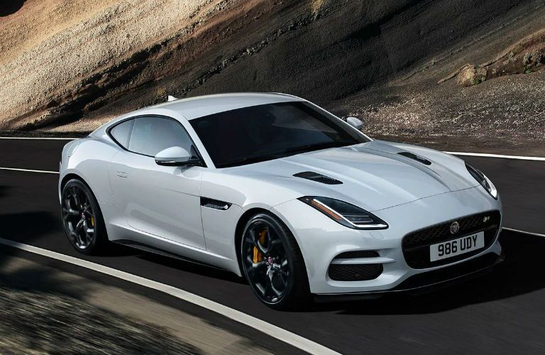 front three quarter view of 2020 jaguar f-type
