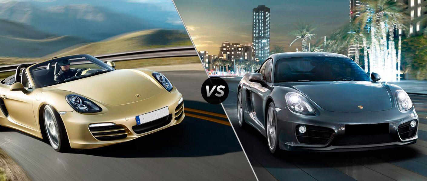 Porsche Boxster vs Porsche Cayman